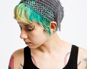Chainmaille 1920's style headpiece in Gunmetal Anodized Aluminum