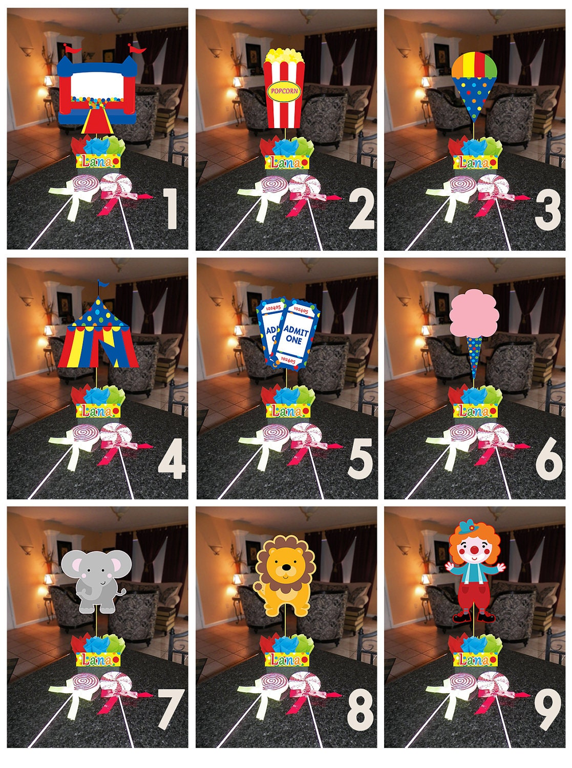 Homemade Circus Decorations Diy Small 12 Carnival Circus Birthday Party Centerpieces