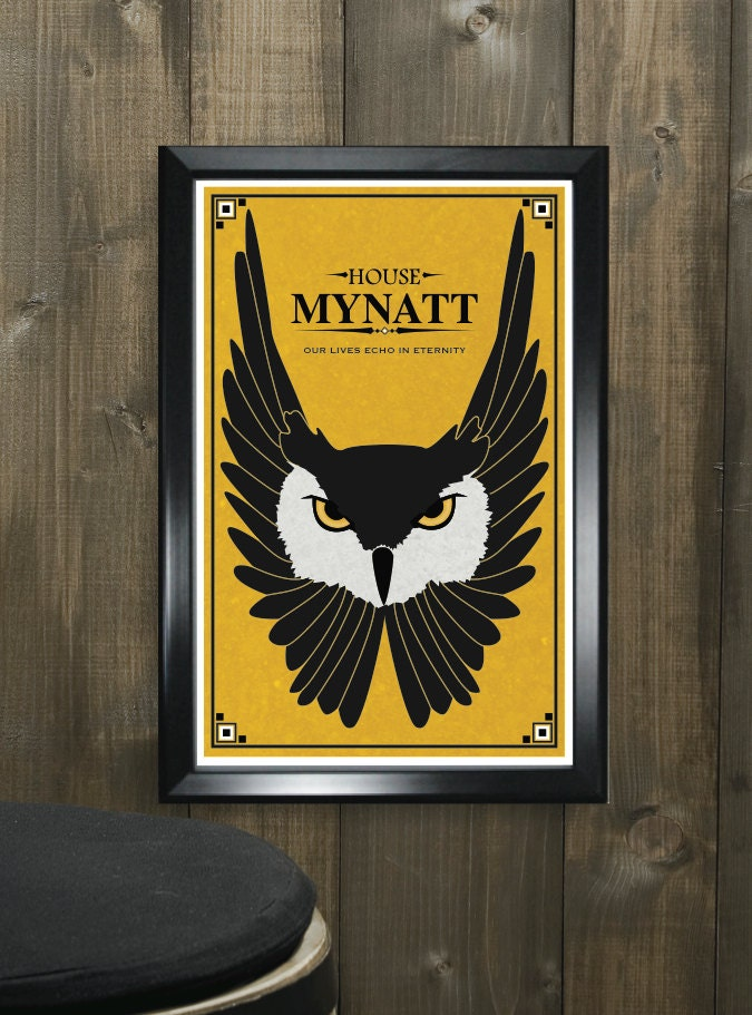 Game Of Thrones Personalized House Sigil Poster
