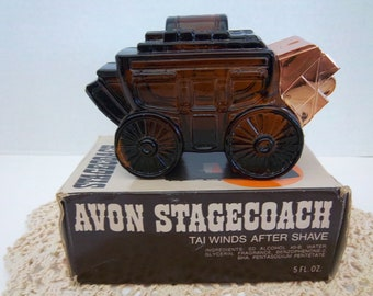 Avon Stagecoach Tai Winds After Shave, Vintage Full 5 oz Bottle, 1970's, Valentines Day Gift
