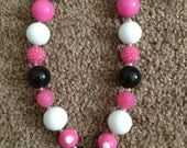 "Pink ""Minnie Mouse"" necklace"