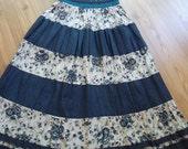 Handmade  -  Maxi Skirt - Dress........Blue