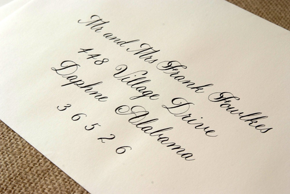 Wedding Calligraphy Envelope Addressing By Southerncalligraphy