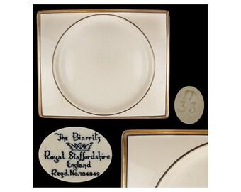 Vintage Royal Staffordshire Biarritz Rectangular Sandwich Plate
