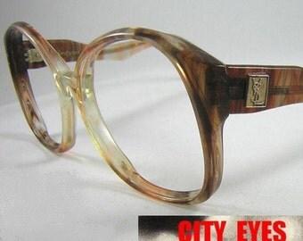 Yves Saint Laurent ( France ) vintage 1980s glam tortoise sunglasses eyeglasses glasses eyeglass frames optical eyewear designer