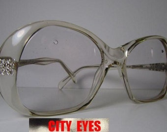 1980s (Italy) rhinestone optical frames for Eyeglasses or Sunglasses New Old Stock  HIGH FASHION