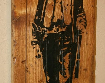 Billy The Kid, Western Decor, Outlaw Country, Rustic Western Decor, Custom Wood Signage, Distressed Wood Sign - Billy The Kid Outlaw