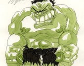 The Hulk, Ink and Watercolor