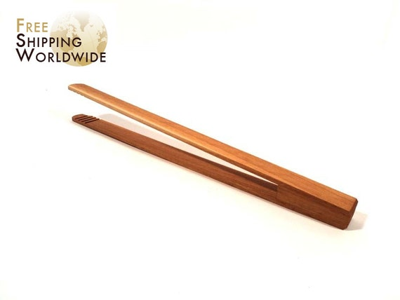 Wooden Simple Kitchen Tongs from Beech wood
