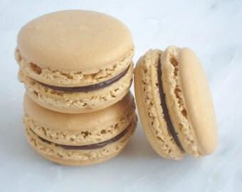 French Macaron Cookies 12 Chocolate Espresso Macaroons Gift Splendid Sweet