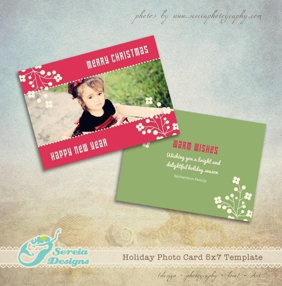 christmas card photoshop template psd christmas flower. Black Bedroom Furniture Sets. Home Design Ideas