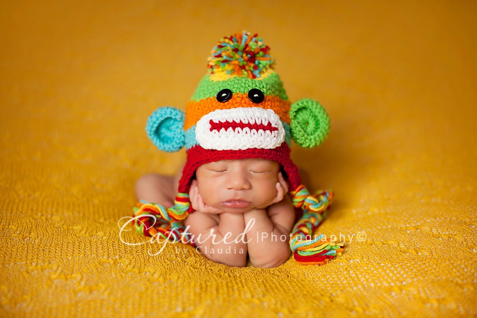 Baby boy hat cute newborn baby boy or girl by jerribeccahats2