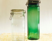 Tall Clear Glass Vintage Canister Jar Vase Canning Jar, Pottery Barn, Urban Outfitters, Crate and Barrel