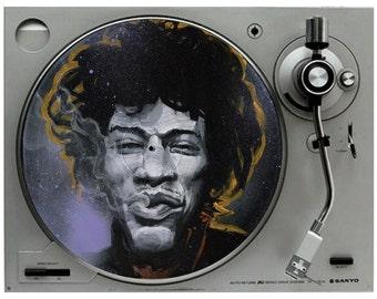 """Jimi Hendrix Art Print - Hendrix Poster Wall Art - Wall Decor - """"Jimi"""" by Black Ink Art"""