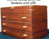 MAHOGANY WOOD JEWELRY Box - Wood Jewelry Box - Wood Jewelry Organizer -Storage & Organizaton - Jewelry Storage / Organizer