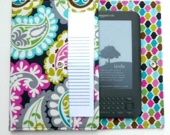 iPad Mini, Kindle, Nook, Kobo, Sony Reader, Samsung Galaxy, Small eReader Padded Case (READY TO SHIP) - Paisley
