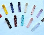 Assortment of Swiss Dots Mini Hair Clips....You Choose 5 colors...Perfect for Infants/Toddlers/Adults