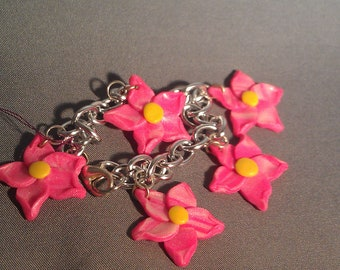 Hawaiian Flower Charm Bracelet