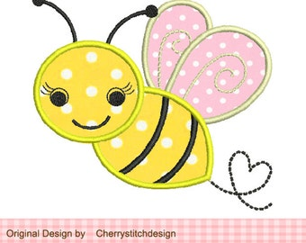 Bumble Bee Machine Embroidery Applique Design -2x2 4x4 5x5 6x6 inch