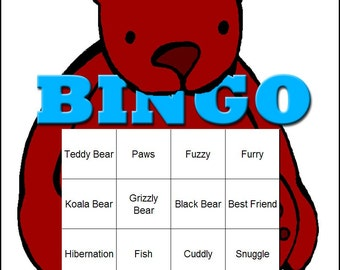 Bear Themed Bingo Set