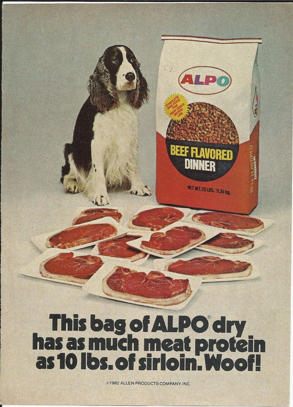 Dry Dog Food Vintage