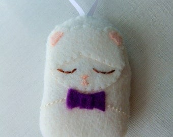 Cute Cream Teddy Bear Matryoshka Charm/Decoration
