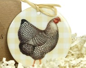 Speckled Hen Gingham Ornament