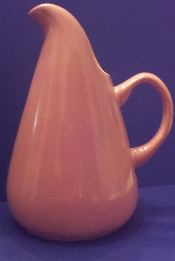 Vintage russel wright water pitcher coral by champagneandmermaids - Russel wright pitcher ...