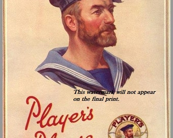 Players Navy Cut Cigarettes, WWII - 8 x 10 Print