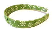 Girls Headband - Green Pinwheel - Womens Head Band - Adult Headbands - Hair Accessory - Headbands for Women - Head Bands