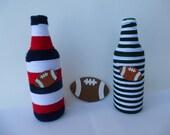 Football Team Yarn Wrapped Beer Bottles