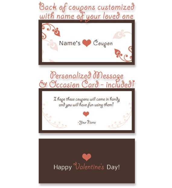 items similar to personalized love coupons