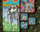 Custom Dia de los Muertos Pet Portrait for Carly