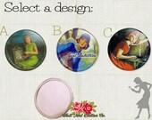 Nancy Drew Compact Mirror // 2.25 inch Compact Mirror // Vintage Detective Novels