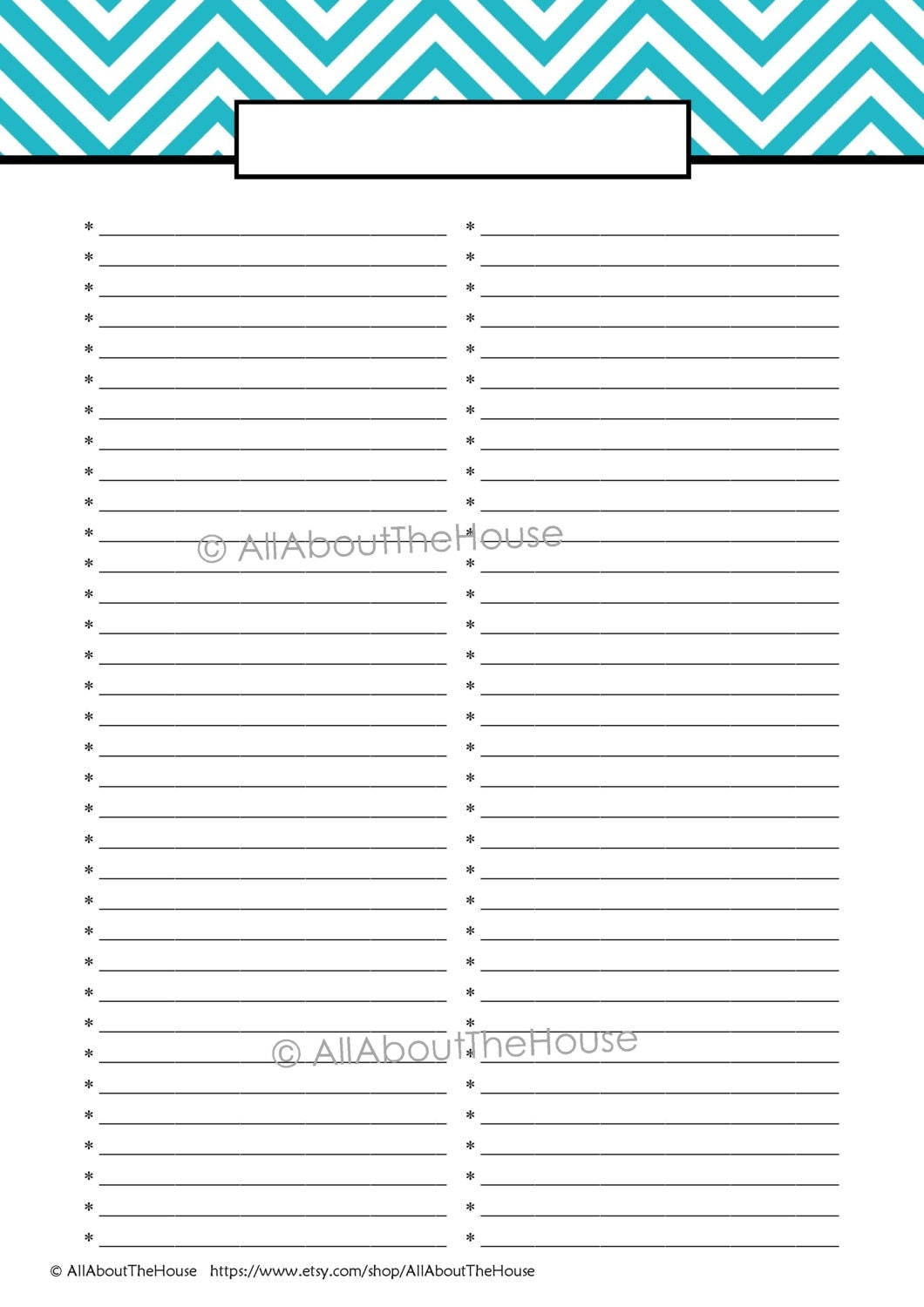 EDITABLE Printable To Do List Printable Shopping List