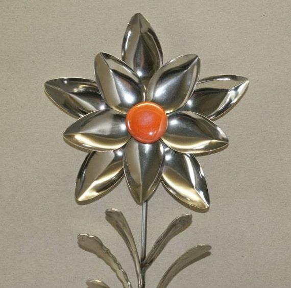 items similar to spoon garden art flower sculpture from