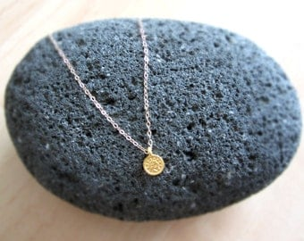 Coin Necklace, Gold Pendant Necklace