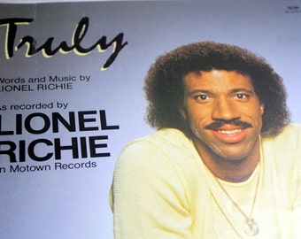 Sheet Music Quot Truly Quot 1982 Words And Music By Lionel