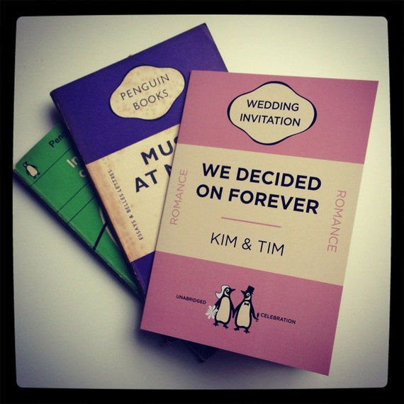 Wedding Invitation Book Style: Penguin Books Classics Themed Retro Wedding By MartyMcColgan