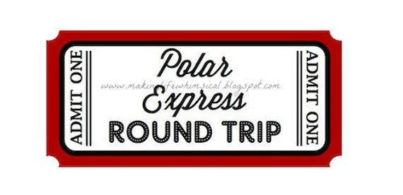 Polar Express Ticket Printable Believe Instant download polar express ...