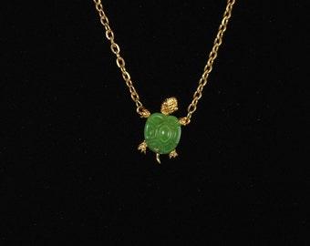 Vintage Turtle Necklace Turtle Pendant 1960's Reptile Jewelry Ocean Jewelry