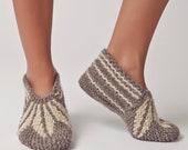 40% OFF SALE! Wool Slippers, Handknit Wool Socks, Warm, Soft, Knitted Socks, Men's and Women's Slippers: Varna