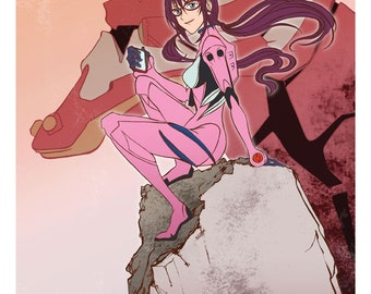 Mari Illustrious Makinami From Evangelion 2.0 Poster