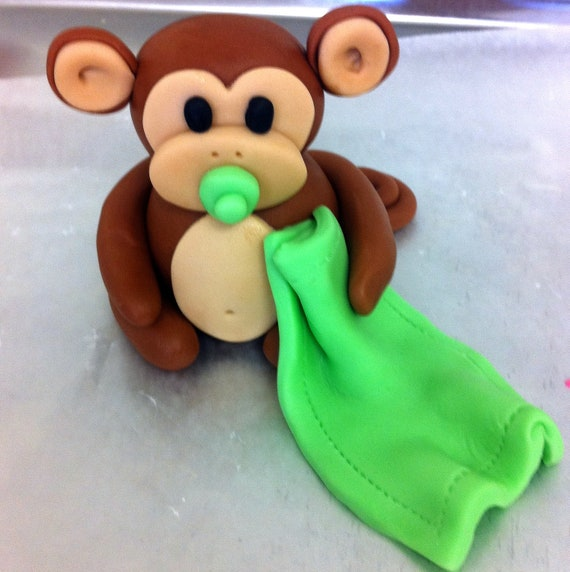 How To Make A Fondant Monkey Cake Topper