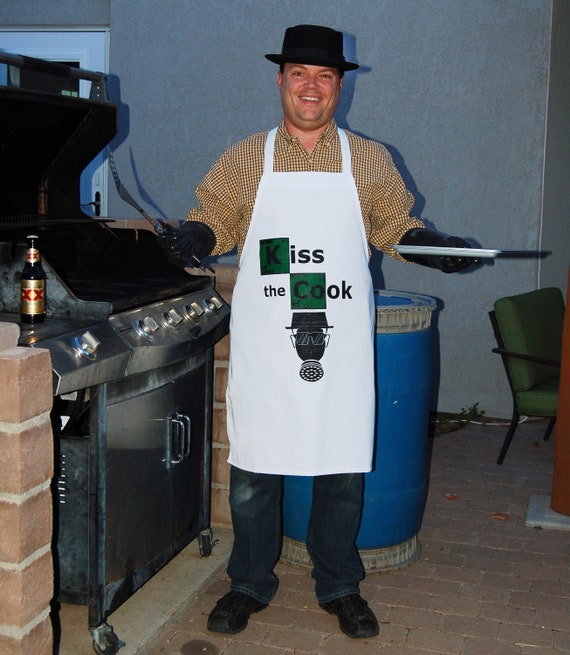 Kiss the Cook apron inspired by Breaking Bad television series