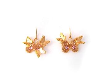 """Earrings """"Butterflies"""" flying"""