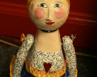 Art Doll CollectibleFolk Art Whimsical Fantasy
