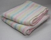Vintage Striped Pastel Baby Blanket