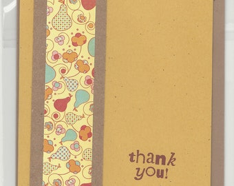 Handmade Greeting Card - Thank You - Embellished