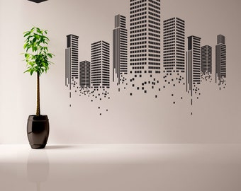 Urban wall decal office wall decal wall graphics for How to design wall art
